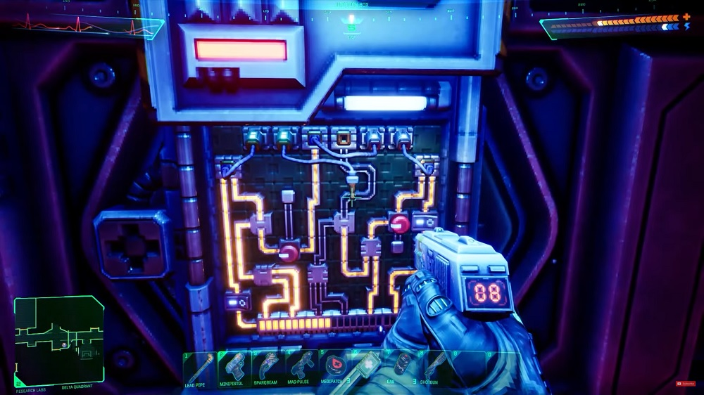 System Shock remake gameplay puzzle
