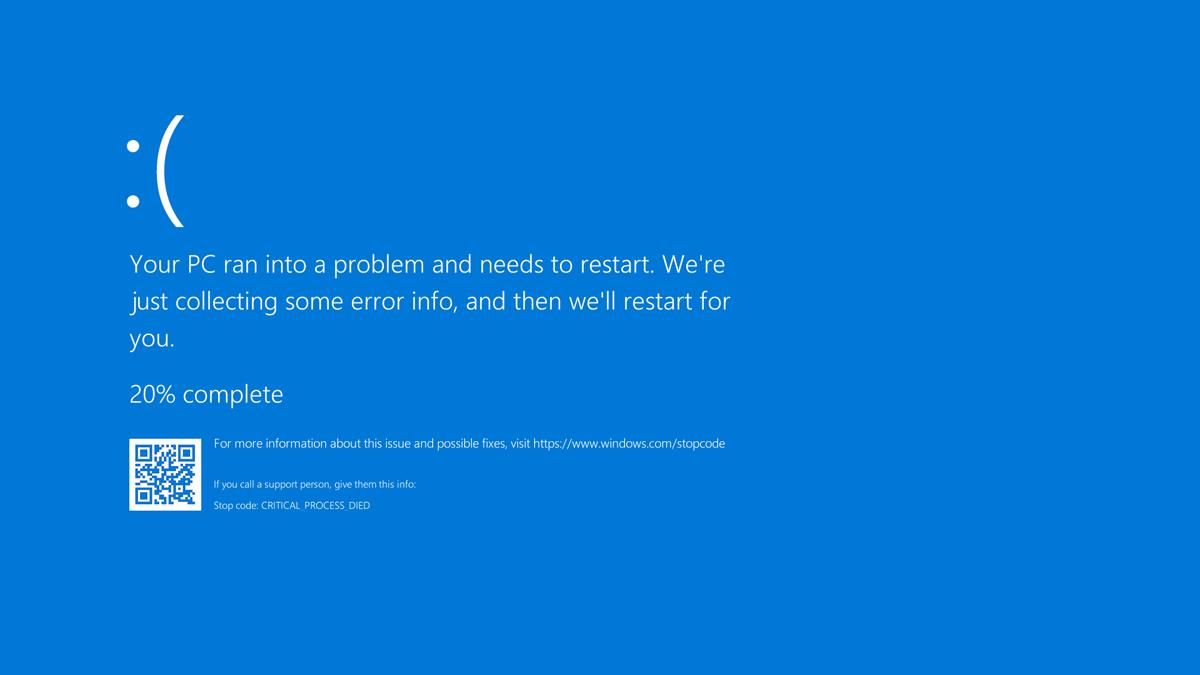 Windows 11 BSOD Colour Error Screen Black Screen of Death
