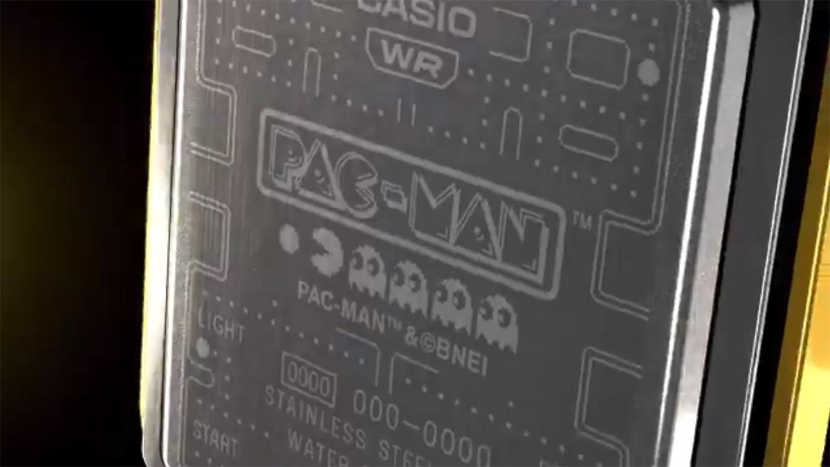 casio pac-man collaboration vintage timepiece watch teaser