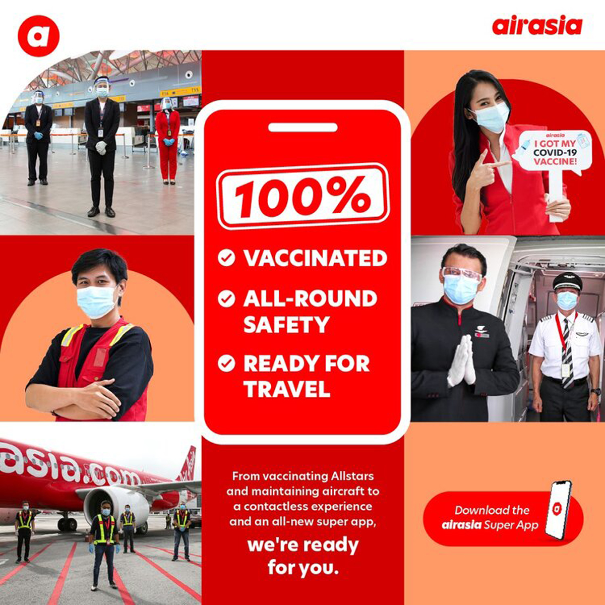 AirAsia crew and staff 100-percent vaccinated and ready to fly