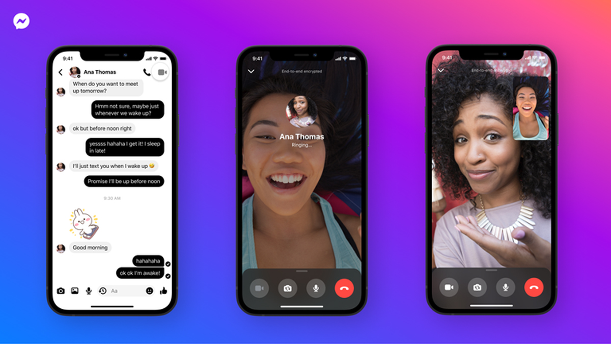 Facebook Messenger end-to-end encryption video voice calls update