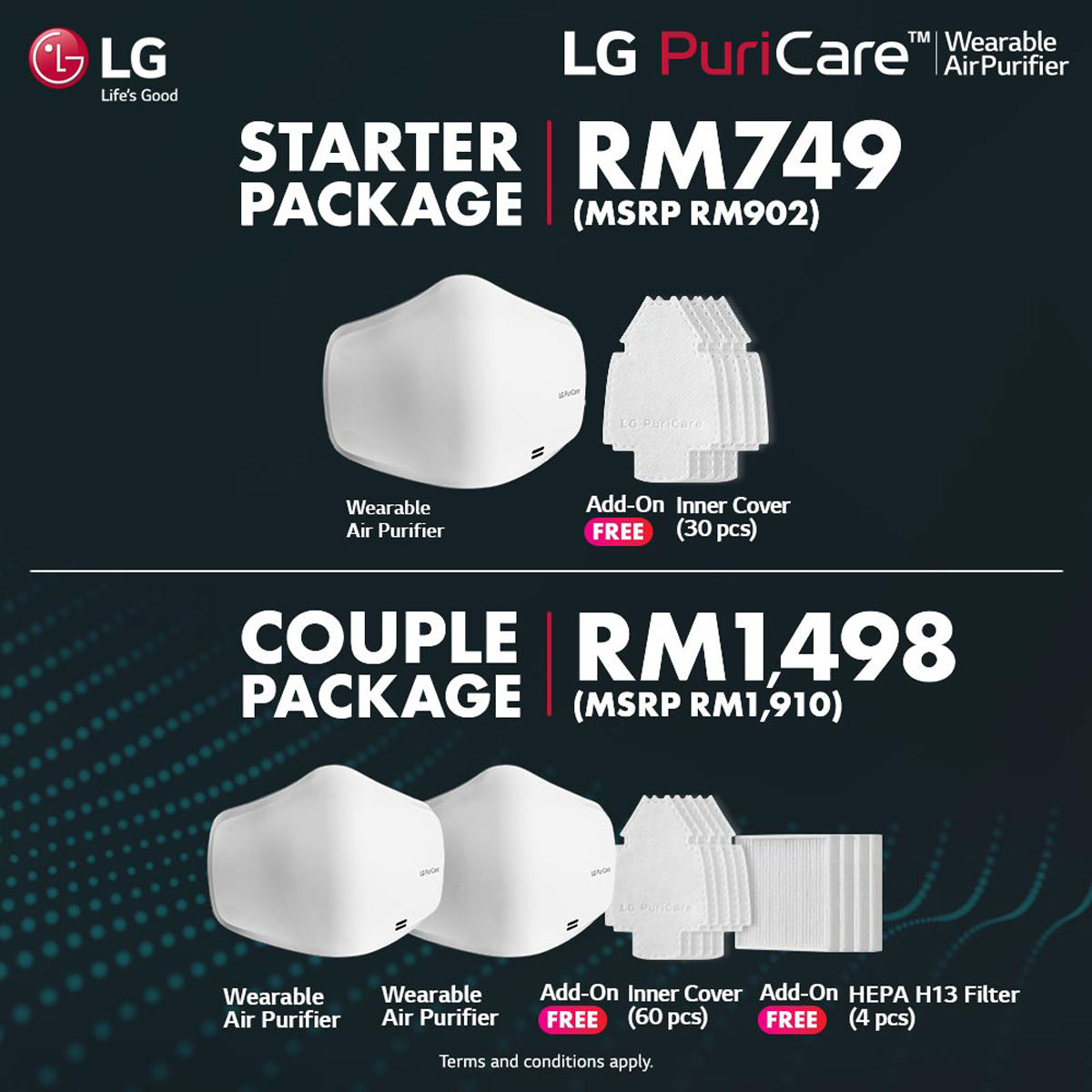 LG PuriCare Wearable Air Purifier Mask Malaysia Pre-order