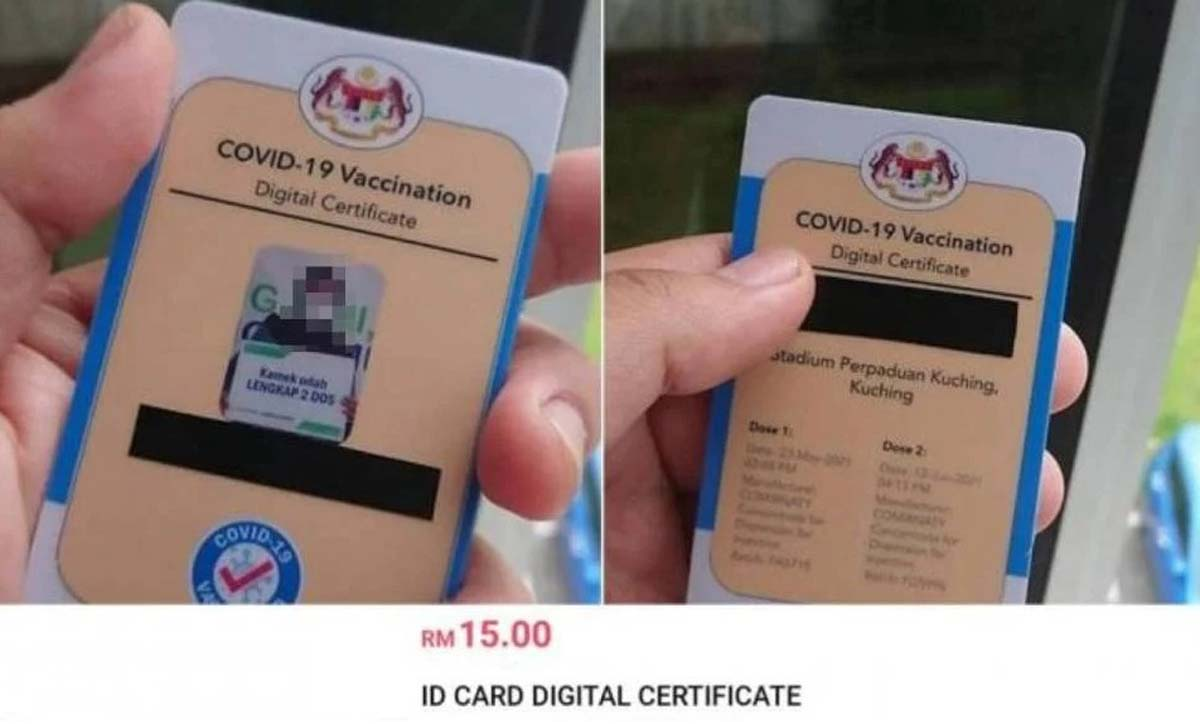 PDRM Police Fake Digital Certificate COVID-19 online sale