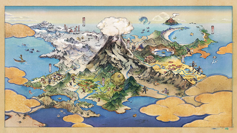 Pokemon Legends Arceus Hisui map