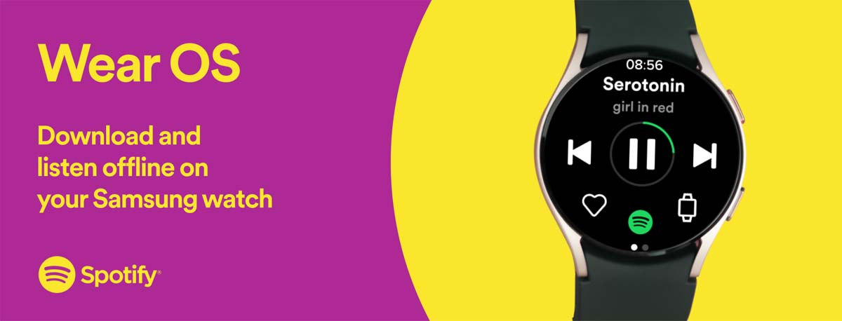 Spotify direct streaming download features Wear OS