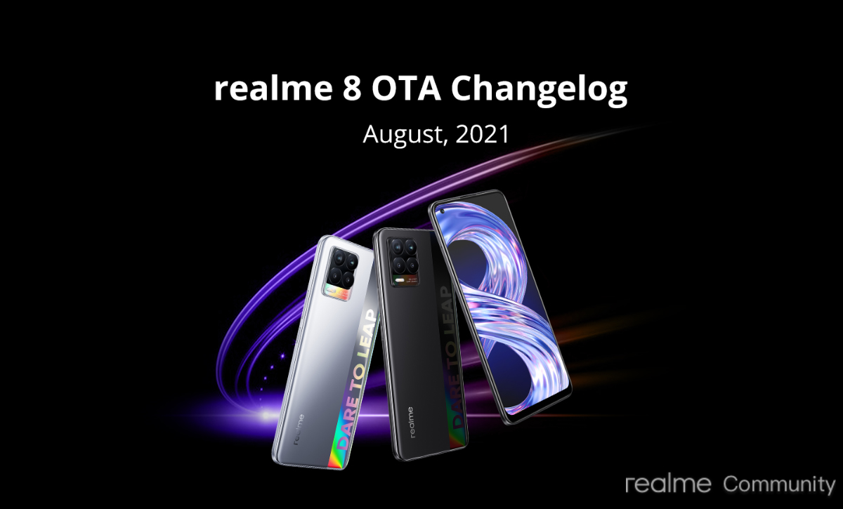 realme 8 series pro dynamic RAM expansion feature firmware update