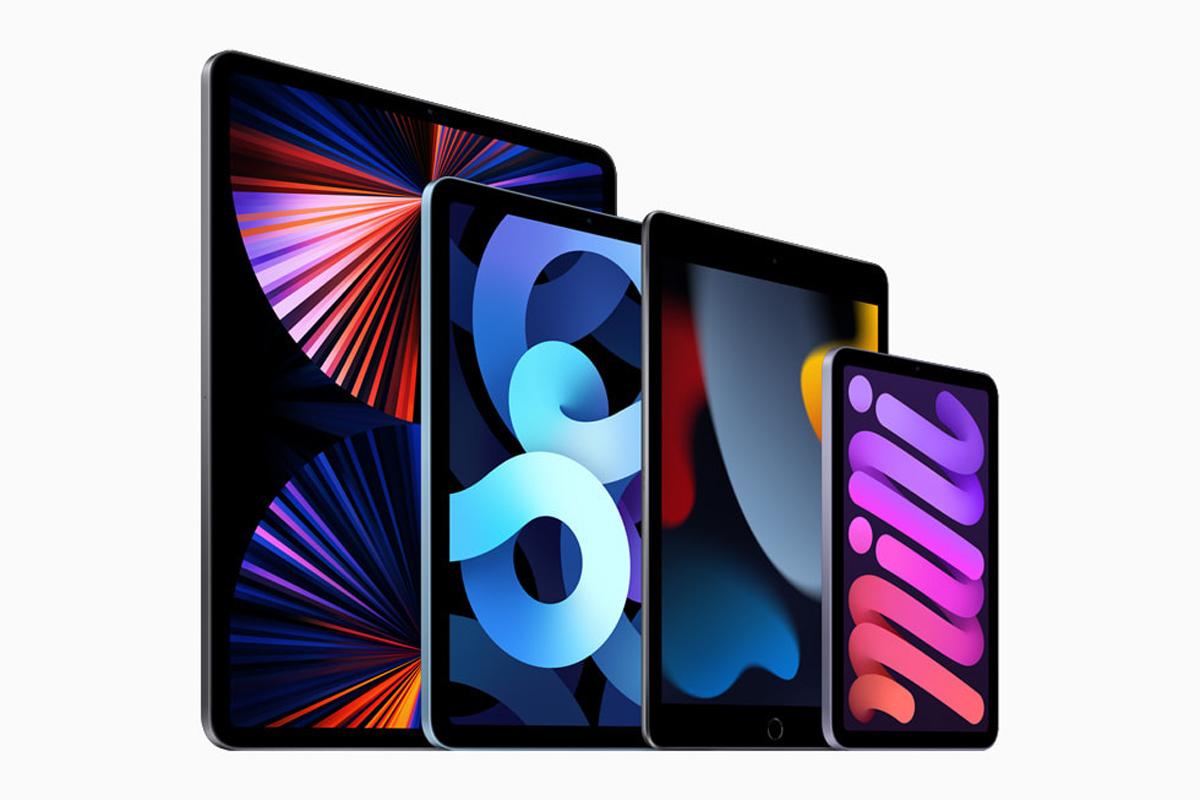 Apple iPad mini 6 colours display