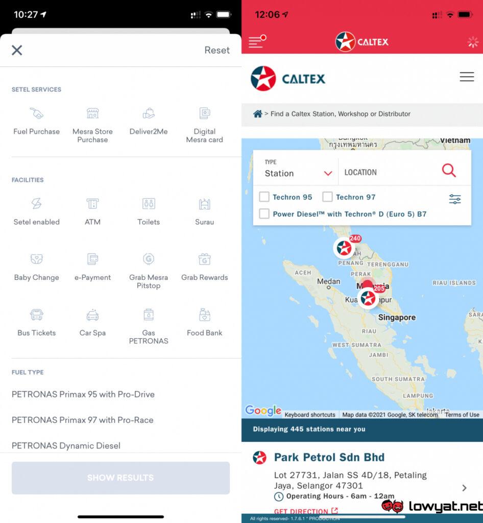 Petronas setel caltexgo e-payment apps app