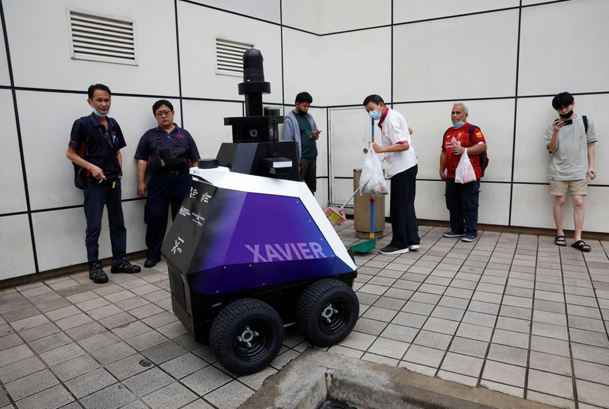 Singapore Trials Patrol Robots Xavier Toa Payoh Central