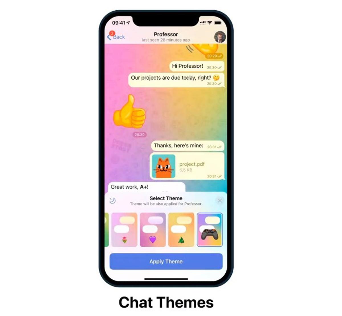 Telegram Update Interactive Emoji Individual Chat Themes