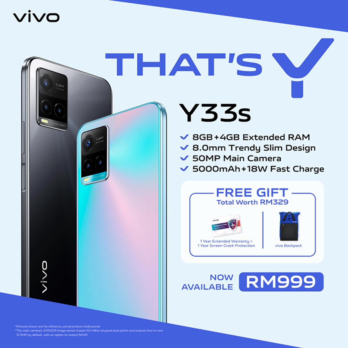 Vivo Malaysia Y33s smartphone pre-order