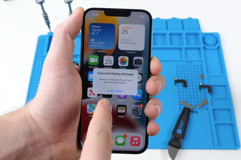 iPhone 13: Third-party screen replacements disable Face ID