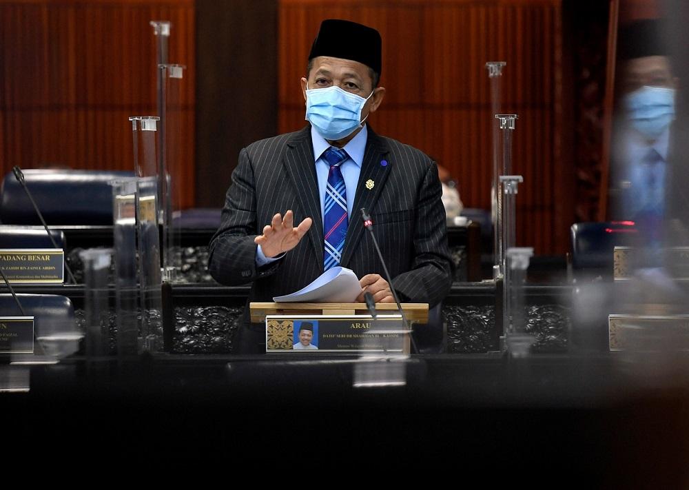 Federal Territories Minister Shahiddan Kassim in Parliament