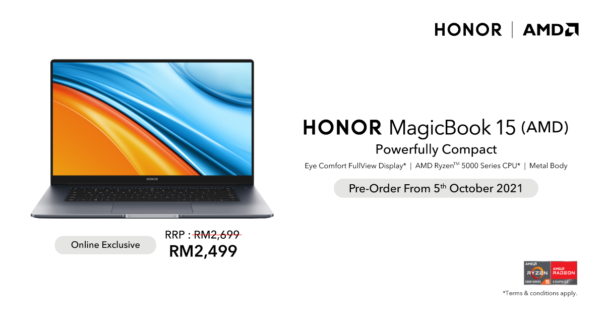 HONOR MagicBook 15 AMD_Visual
