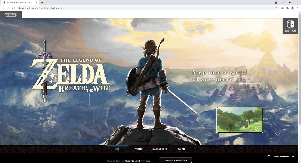 Nintendo Singapore Breath of the Wild