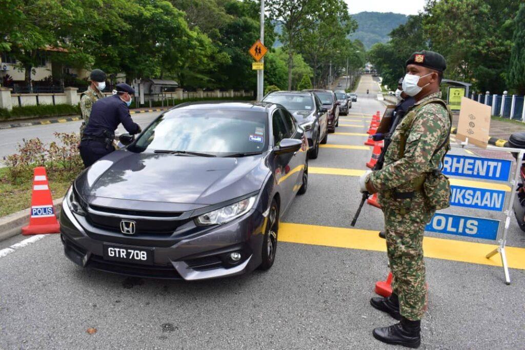 PDRM Roadblock interstate